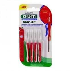GUM - Trav-ler - Brossettes interdentaires 0.8mm - 4 brossettes