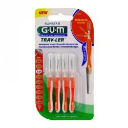 GUM - Trav-ler - Brossettes interdentaires 0.9mm - 4 brossettes