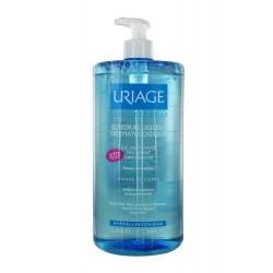 URIAGE - Surgras Liquide Dermatologique - Gel nettoyant moussant sans savon - Peaux sensibles - 1L