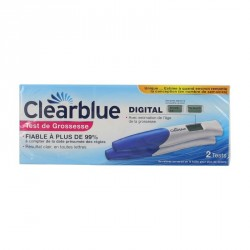 CLEARBLUE - Test de grossesse digital - Lot de 2