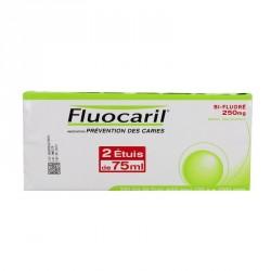 Fluocaril Bifluore 250mg Menthe Pâte Dentifrice 2 Tubes de 75ml