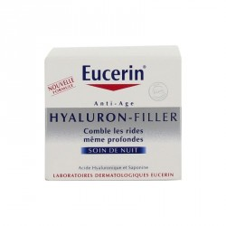 EUCERIN - Hyaluron Filler - Soin de Nuit Anti-âge - Comble les rides même profondes - 50ml