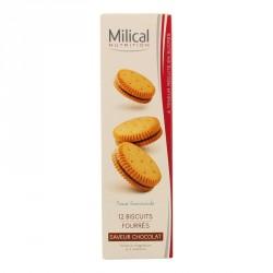 MILICAL - Nutrition - Biscuits fourrées saveur chocolat - 12 biscuits