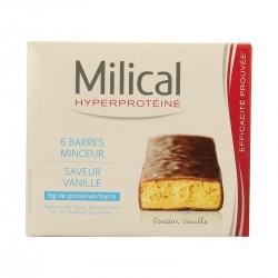MILICAL - Barres Hyperprotéinées saveur vanille - 6 barres