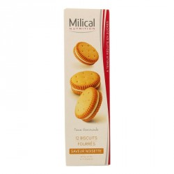 MILICAL Nutrition - 12 biscuits fourrés - Saveur noisette