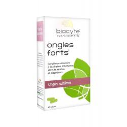 Biocyte Ongles Forts Boite de 40 gélules