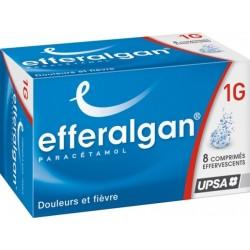 Efferalgan 1g effervescent 8 comprimés