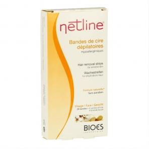 BIOES - Netline - Bandes de cire dépilatoires - Visage - 20 bandes