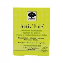 NEW NORDIC - Activ'Foie - Digestion des graisses et bon fonctionement du foie - 30 comprimés