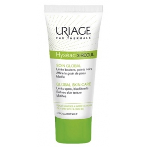 URIAGE - Hyséac 3-Régul - Soin global - Limite boutons, points noirs, affine le grain de peau et matifie - 40ml