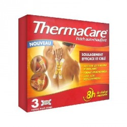THERMACARE - Patch auto-chauffant multi-zones 8H - Soulage les tensions musculaires - 3 patchs