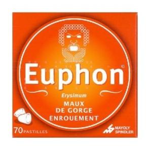 EUPHON - Pastilles maux de gorge et enrouement - 70 pastilles
