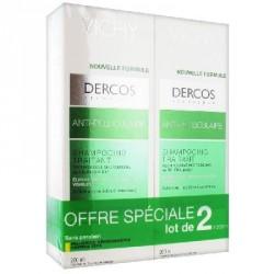 VICHY - Dercos - Shampooing Traitant Anti-Pelliculaire - Cheveux Secs - Lot de 2 x 200 ml