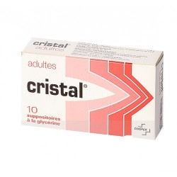 Cristal Suppositoire adulte 10 suppositoires