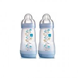 MAM - Biberon anti colique - 0 à 6 mois - 2 biberons de 260 ml