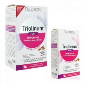 NUTREOV - Triolinum Fort - Ménopause - Aux graines de lin - 60 + 30 capsules