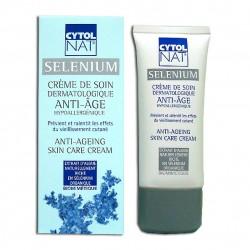 CYTOLNAT - Selenium - Crème de Soin Dermatologique Anti-âge Hypoallergénique - 50ml