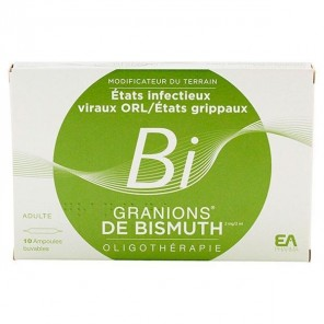 GRANIONS BISMUTH S BUV B/10AMP/2ML