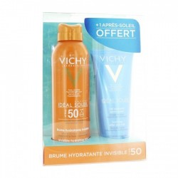 Vichy Solaire Ideal Soleil Brume Hydratante Invisible SPF50+ 200 ml + Lait Apaisant 100 ml