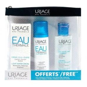 URIAGE - Trousse Eau Thermale - Crème d'eau légère 40ml + Eau thermale 50ml + Eau micellaire thermale 100ml
