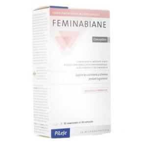 Pilèje Feminabiane Conception boite de 28 comprimés et 28 capsules