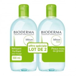 SEBIUM - H2O - Eau micellaire purifiante - 500ml DUO