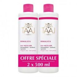Taaj Himalaya eau micellaire peaux sensibles et délicates 2x500ml