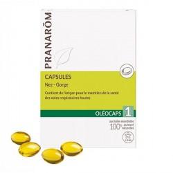 Pranarôm Oléocaps 1 nez-gorge 30 capsules