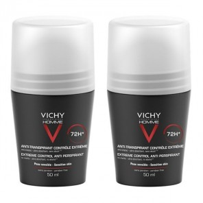 Vichy Homme Déodorant anti-transpirant bille 50ml x2