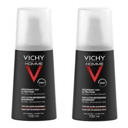 Vichy homme déodorant ultra frais vaporisateur 100ml x2