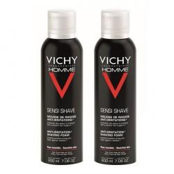 Vichy homme mousse de rasage anti-irritations 200ml x2