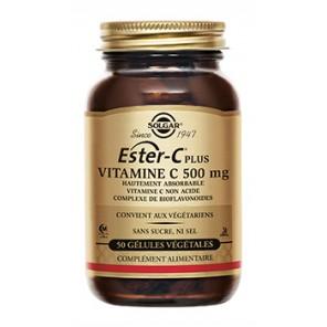 Solgar Ester C® Plus 500mg 50 gélules