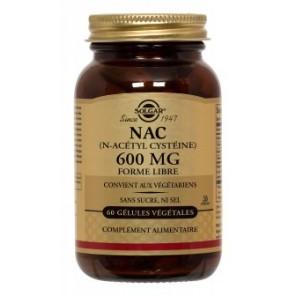 Solgar N-Acétyl-L-Cystéine nac acide aminés 600mg 60 gelules