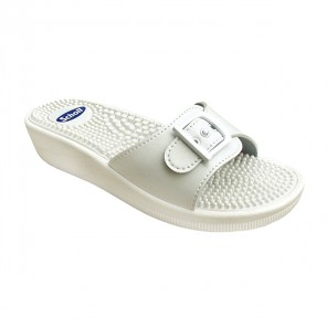 Scholl Fitness Massage blanc sandale taille 39