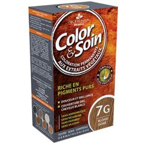 3 Chênes Colors&Soin blond doré coloration permanante 7G
