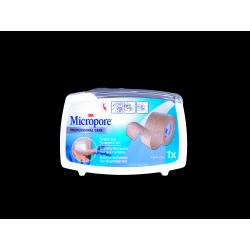 3M - MICROPORE - Professional care - Sparadrap Microporeux pour peaux sensibles - 2,5CM x 5M