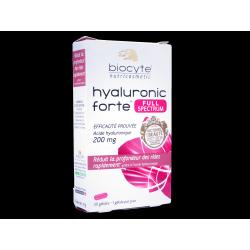 BIOCYTE Nutricosmetic - Hyaluronic Forte - Réduit la profondeur des rides rapidement - 30 gélules