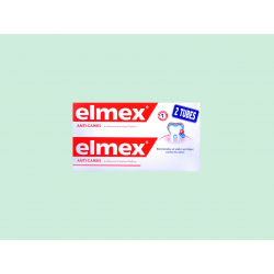 ELMEX - ANTI-CARIES - Dentifrice au fluorure d'amines Olafluor - LOT DE 2x125ML