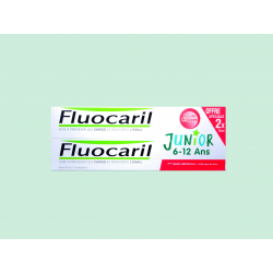 FLUOCARIL - JUNIOR 6-12 ANS - Dentifrice gel goût Fruits rouges - LOT DE 2x75ML