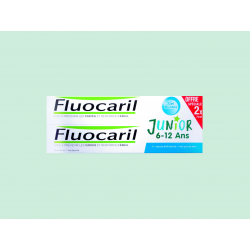 FLUOCARIL - JUNIOR 6-12 ANS - Dentifrice gel goût Bubble - LOT-DE-2x75ML