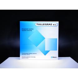 MYLAN - Tullegras M.S - Plaies et brûlures - 10 pansements vaselinés stériles unitaires - 10 x 10 CM