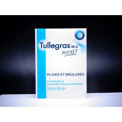 MYLAN - Tullegras M.S Pocket - Plaies et brûlures - 5 pansements vaselinés stériles unitaires - 5 x 10 CM