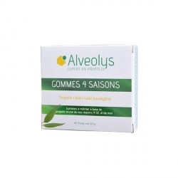 ALVEOLYS - Gommes 4 saisons - Goût Miel - 40g