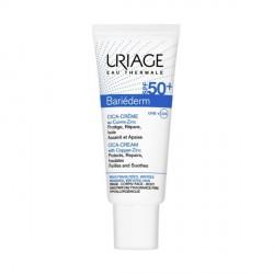 URIAGE - Bariéderm - Cica-crème au Cuivre-Zink SPF50 - Peaux fragilisées, irritées - 40ml