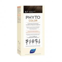 PHYTO - Phytocolor - Coloration permanente - 6.7 blond foncé marron - 112ml