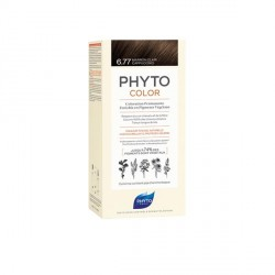 PHYTO - Phytocolor - Coloration permanente - 6.77 marron clair cappuccino - 112ml