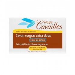 ROGÉ CAVAILLÈS - Savon surgras extra-doux - Fleur de coton - Peaux sensibles - 250g
