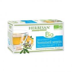 HERBESAN - Sommeil serein - Infusion mélisse bio - 20 sachets