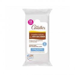 ROGÉ CAVAILLÈS - Lingettes intimes avec anti-bactérien - Usage quotidien - 15 lingettes
