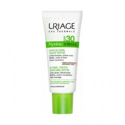 URIAGE - Hyséac 3-Regul - Soin Global Teinté SPF30 - Teinte universelle - Peaux grasses à imperfections - 40ml